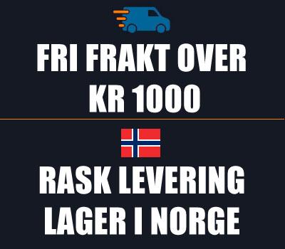 Fri frakt over kr 1000 - Rask levering med lager i Norge