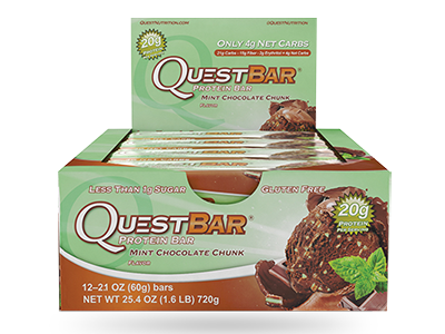 Quest Bar – Mint Chocolate Chunk